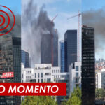 Fuerte incendio en el World Trade Center en Bélgica.