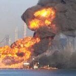 Accidente provoca fuerte explosión e incendio en Texas.