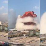Una explosión de gran magnitud se registra en el puerto de Beirut, Líbano.