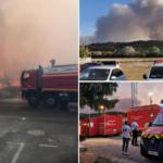 Al menos 2,700 habitantes serán desalojados por fuerte incendio en Francia.