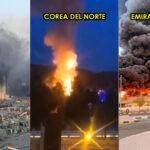3 grandes explosiones registradas en las últimas 24 horas.