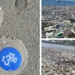 ¡Indignante! Las playas de Omoa amanecen inundadas de basura.