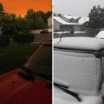 Clima Extremo: cae nieve en Colorado luego de 48 horas de una intensa ola de calor.