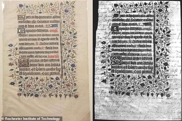 Estudiantes descubrieron escritura oculta en un manuscrito del siglo XV.