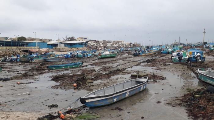 Ecuador se volvió a secar. Marea baja extrema en Santa Elena.