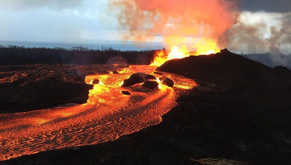 volcán en hawái
