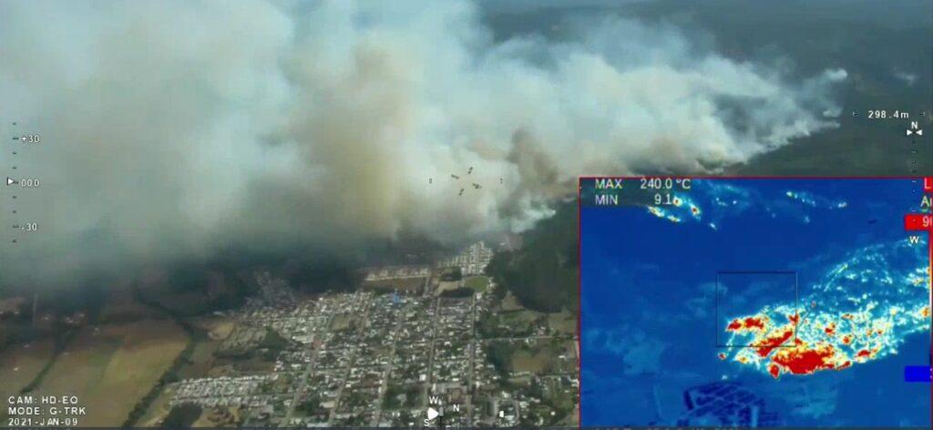 Incendio forestal masivo