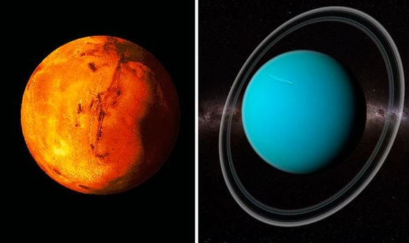 Urano será visible junto a Marte este 21 de enero.