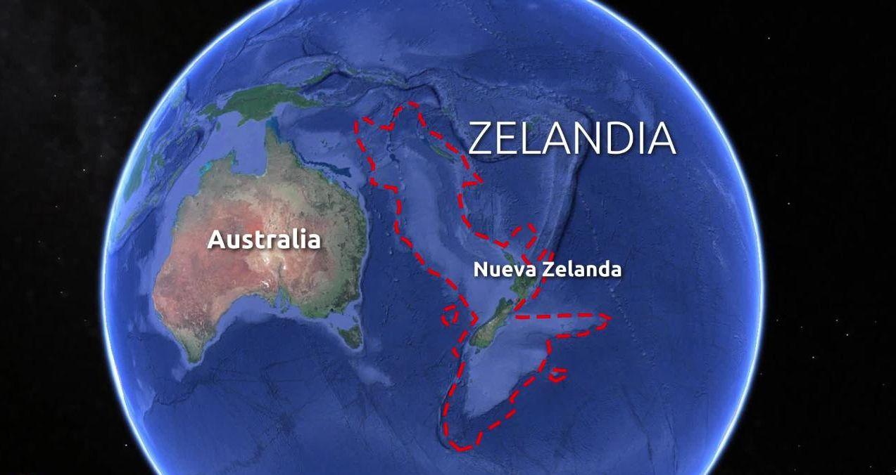 Zelandia: el continente perdido revelado con increíble detalle.