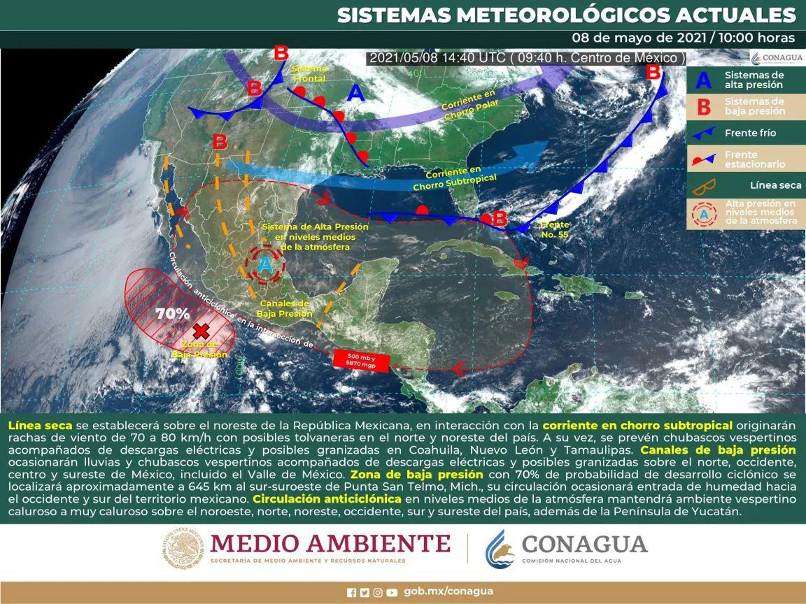Tormenta tropical Andrés, primer ciclón de la temporada 2021.